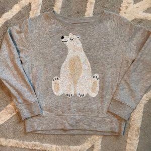 CrewCuts Polar Bear sequin sweatshirt